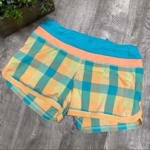 Lululemon Groovy Run Plaid Shorts